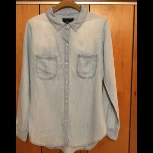 Rails Tops - Rails  distressed chambray blouse